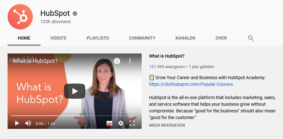 Screenshot Hubspot